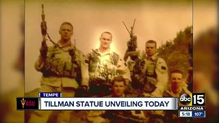 Statue of Pat Tillman unveiled outside of stadium - Video