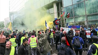 French Police Fire Tear Gas At Paris May Day Protesters