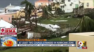At least two couples stranded in hurricane zone - Video
