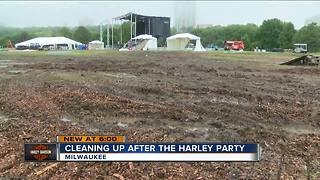 Veterans Park torn up after Harley-Davidson celebration
