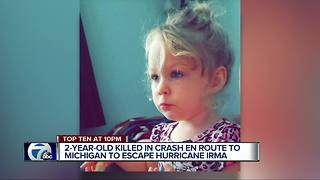 2-year-old killed in crash en route to Michigan to escape Hurricane Irma - Video