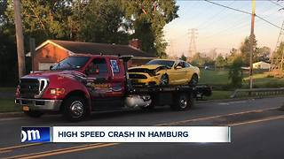 Deputies investigating high speed crash in Hamburg - Video