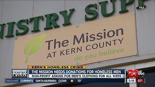 The Mission asking for donations for men