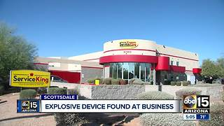 Scottsdale man arrested for leaving explosive device at his work - Video