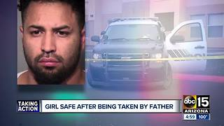 Peoria girl found safe after being abducted by her father