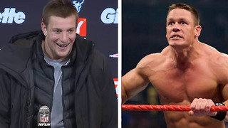 Gronk Following Ronda Rousey to the WWE as a FULL-TIME Wrestler??! - Video