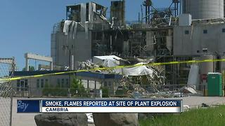 Cambria Flames Reported - Video