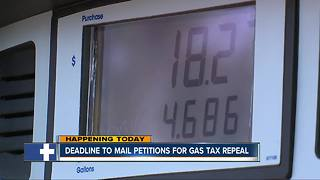Deadline to mail petitions for gas tax repeal - Video