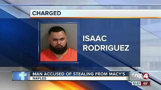 Man Accused of Stealing From Macy's - Video