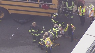 Bus driver extricated from crash in Clearwater