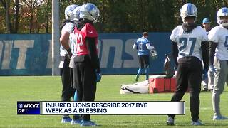 Lions describe bye week as a blessing - Video
