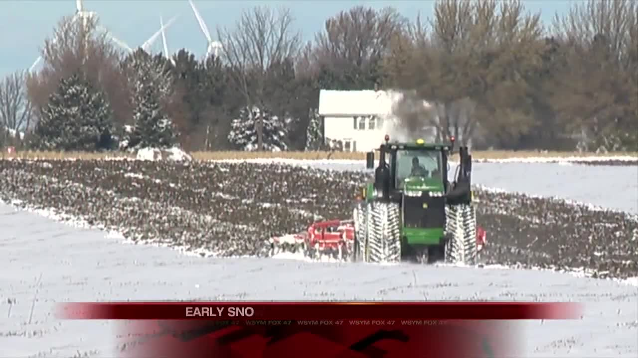 Snow delays crop harvest