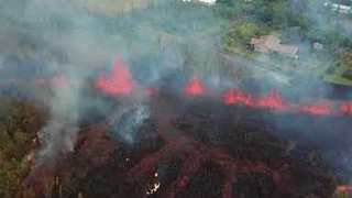 Aerial Footage Shows Lava Flows From Kilauea Volcano - Video