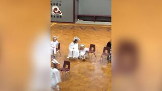 Adorable Little Girl Falls At A Talent Show - Video