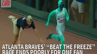 """Atlanta Braves' """"Beat The Freeze"""" Race Ends Poorly For One Fan - Video"""