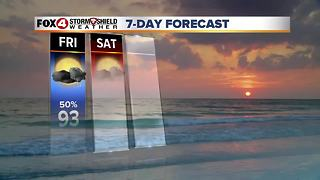Scattered Storm Chances Through The Weekend 8-31 - Video