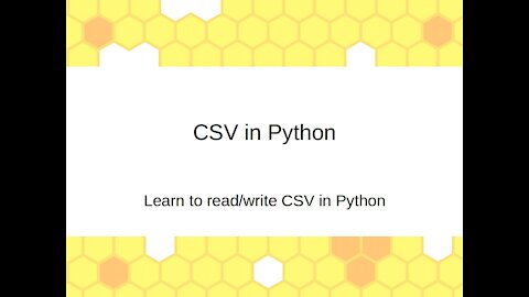 Learn to read/write CSV in Python (Ep. 16)