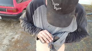 Heartwarming moment man rescues chipmunk from certain death - Video