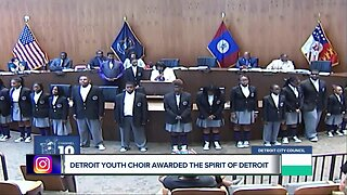 Detroit Youth Choir honored with Spirit of Detroit Award