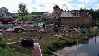 Tornado leaves path of destruction at a family's property