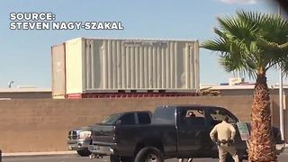 New video shows police shootout in Las Vegas