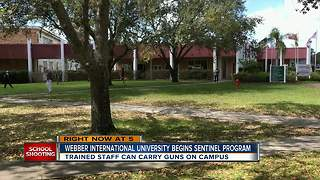 University in Florida to allow teachers, staff to carry guns through program with sheriff's office - Video