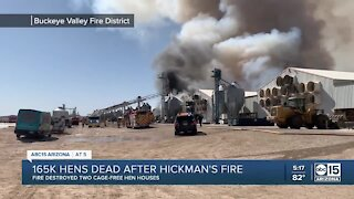 Hickman's Family Farms fire destroyed two cage-free hen houses