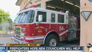 Firefighters hope two new Chula Vista City Councilmen help staffing levels - Video
