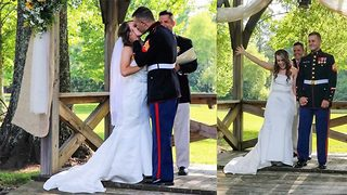 If the shoe fits… – Couple play hilarious shoe game at wedding  - Video