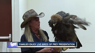 Families enjoy live birds of prey presentation