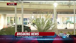 Runway closed at Tucson International Airport due to power outage - Video