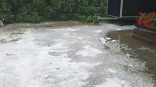 Bavarian Town of Hirschaid Flooded After Heavy Rain, Hail - Video