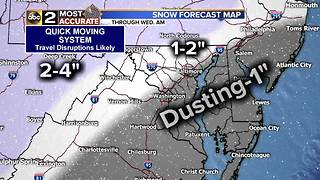 Snow's Moving into the Baltimore Area - Video