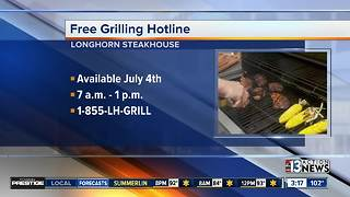 Free grilling hotline for 4th of July - Video