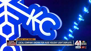 Local company helps light the holidays in KC - Video