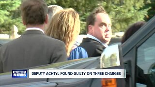 Erie County Sheriff Deputy Kenneth Achtyl found guilty on three charges