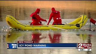 Increase in ice water rescues - Video