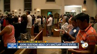 Questions about CA's sanctuary state status - Video