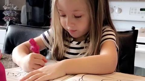 Little girl asked how first day of school was, gives priceless answer