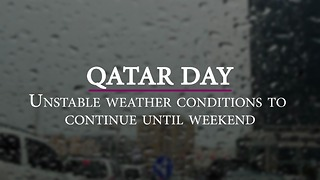 Unstable weather conditions to continue until weekend