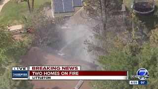 Littleton house fire spreads to nearby homes - Video
