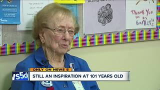 101-year-old volunteer at Akron Children's Hospital has no plans to slow down - Video