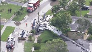 Crane collapses on multiple homes in Lauderhill