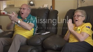 Kyle Chalmers' Grandparents Watch Him Win Gold at the Olympics - Video