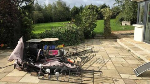 Storm Ali wipes out gazebo as it continues to cause across the county