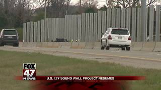 UPDATE: MDOT says sound wall construction has started - Video