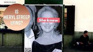 Shocking posters about Meryl Streep surface in L.A. - Video
