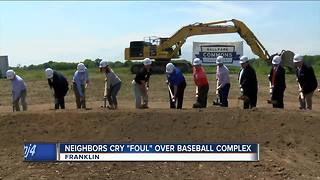 Neighbors not thrilled about Franklin baseball complex