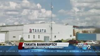 Takata bankruptcy affecting warehouse in Douglas - Video
