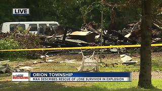 Man describes rescue of lone survivor of explosion - Video